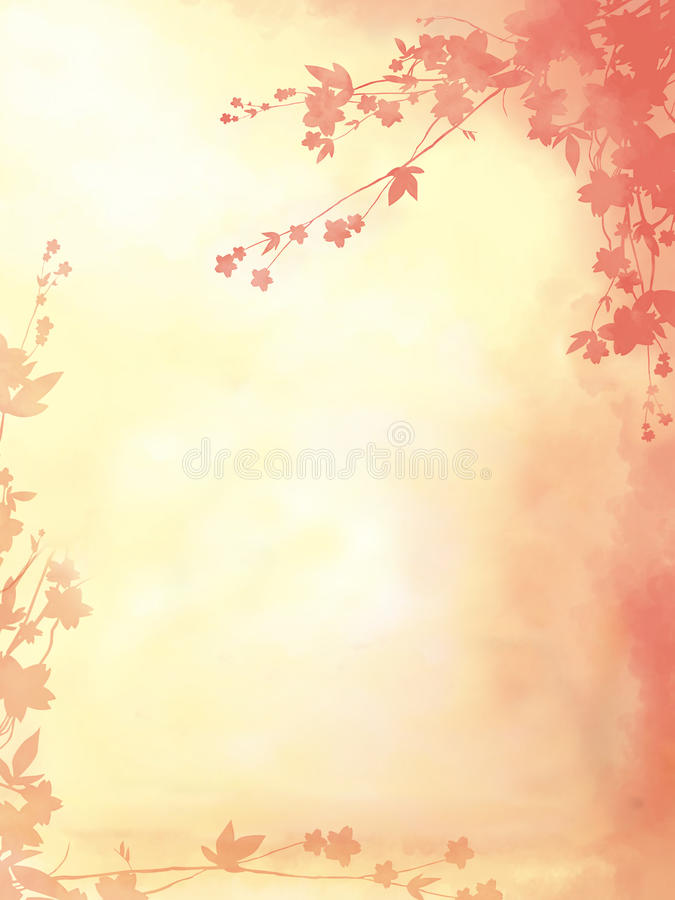 Floral pink background. Pink background with a floral ornament royalty free illustration
