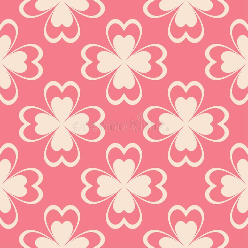 Floral pink seamless pattern. Background with fower elements for wallpapers. vector illustration