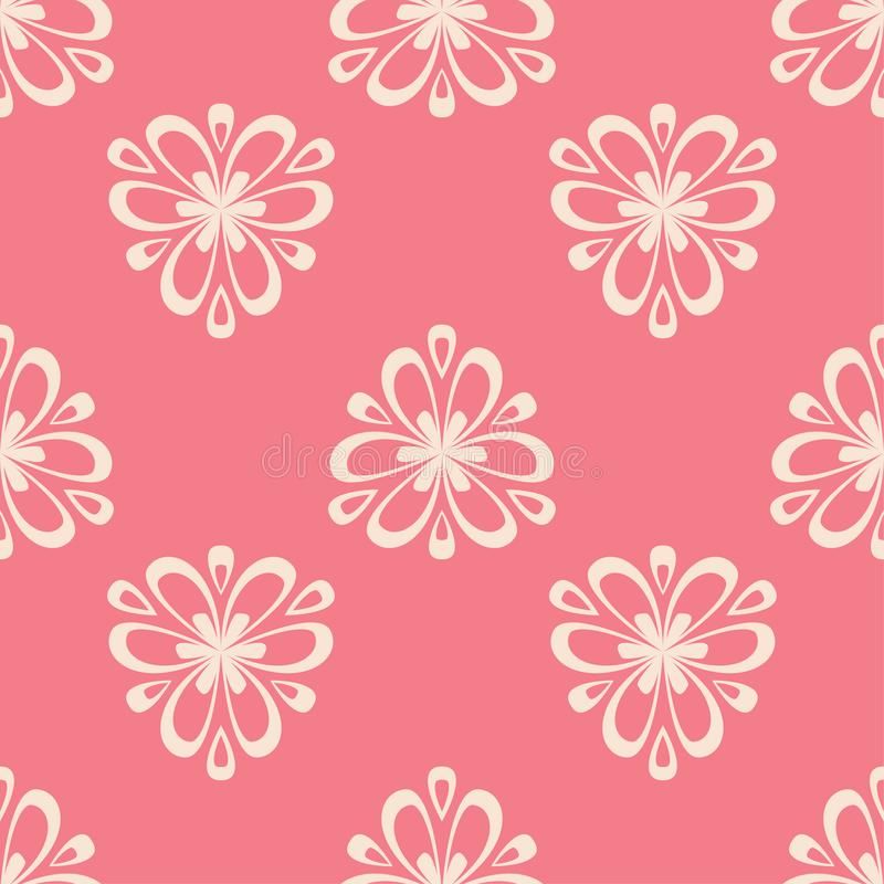 Free Floral Pink Seamless Pattern. Background With Fower Elements For Wallpapers Stock Images - 115112624