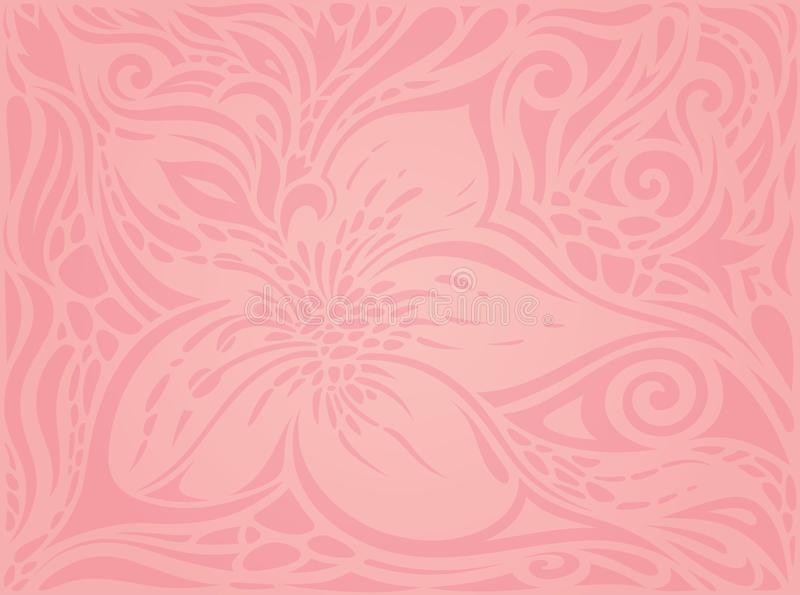 Pink Vector Wallpaper Design Stock Vector Illustration Of