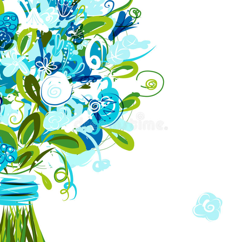 Download Floral Postcard With Place For Your Text Stock Vector - Image: 32646282