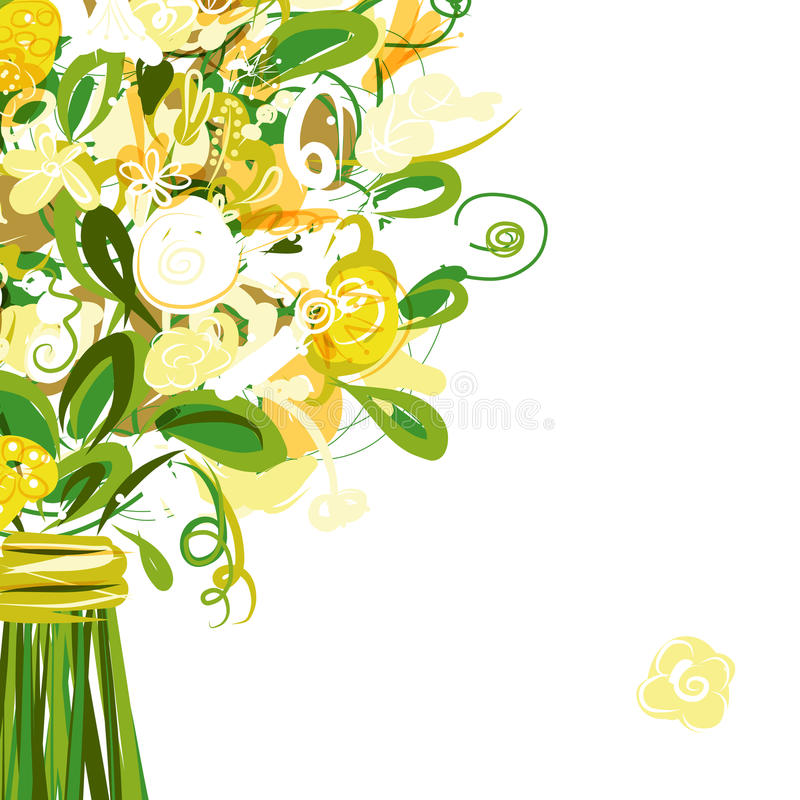 Download Floral Postcard With Place For Your Text Royalty Free Stock Photo - Image: 32646295