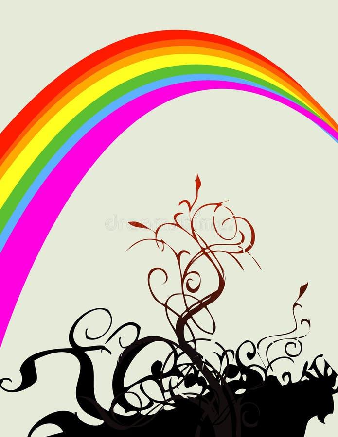 floral rainbow иллюстрация вектора
