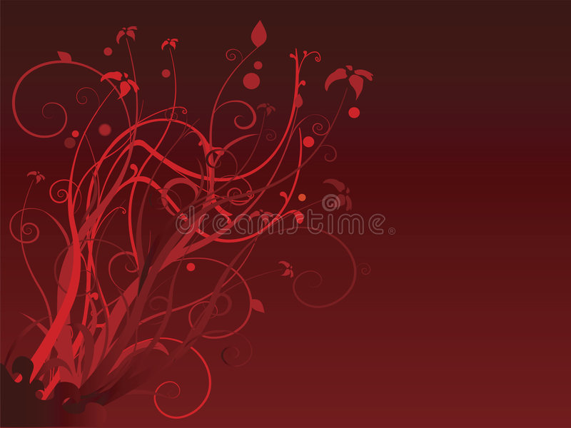 Floral red royalty free stock photo