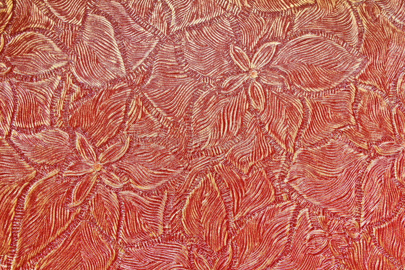 Floral red retro wallpaper. Background texture royalty free stock photos