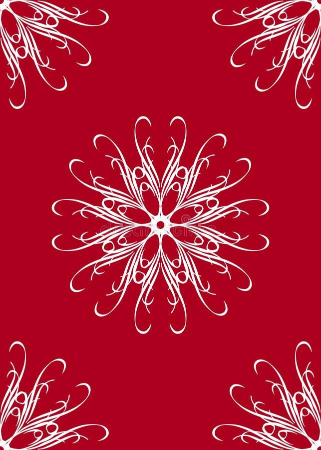 floral red seamless иллюстрация вектора