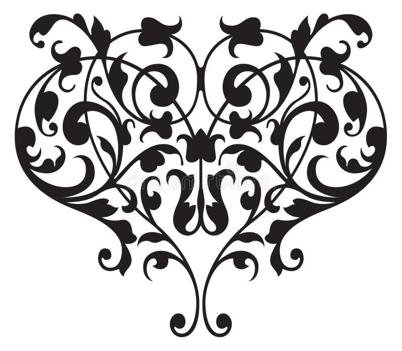 Floral Renaissance Detail Vector vector illustration