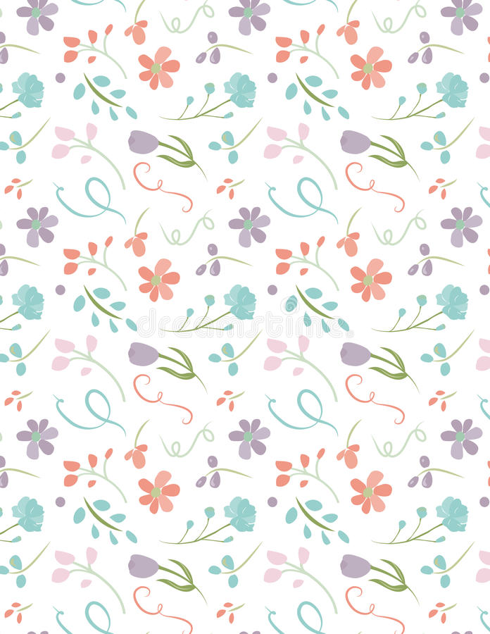 Floral repeating seamless pattern pretty flower background stock floral repeating seamless pattern pretty flower background with pastel color floral pattern and white background mightylinksfo