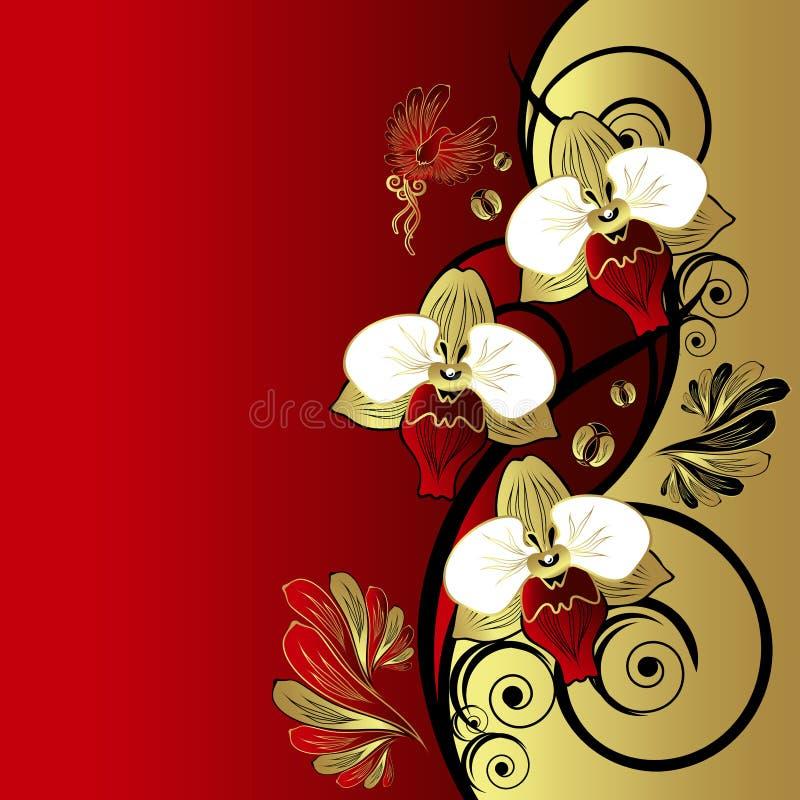 Floral retro background royalty free illustration