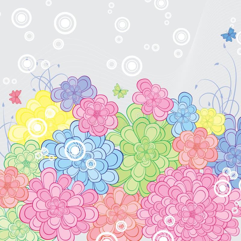 Floral retro background vector illustration