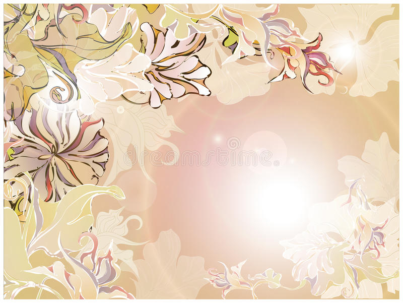 Floral retro card stock photo