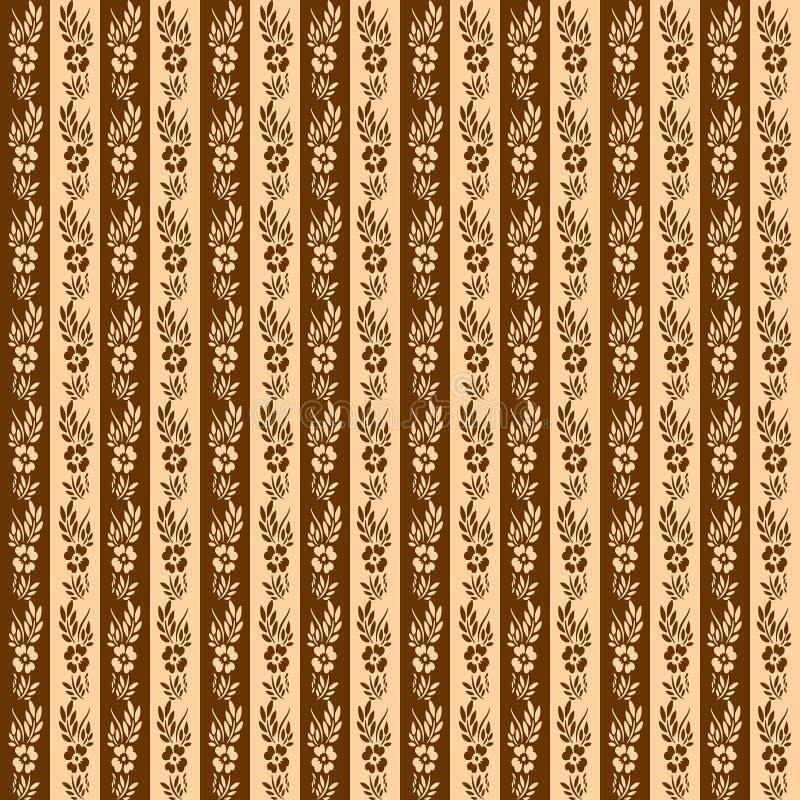 Floral retro stripes seamless pattern royalty free stock image