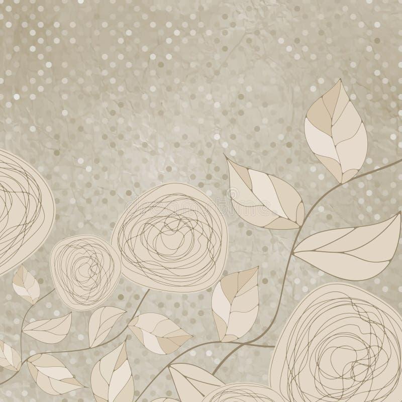 Floral romántico con las rosas de la vendimia. EPS 8 ilustración del vector