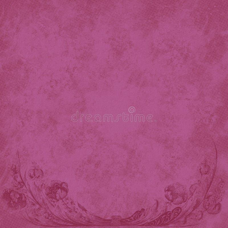 Floral rosado del fondo grabado ilustración del vector
