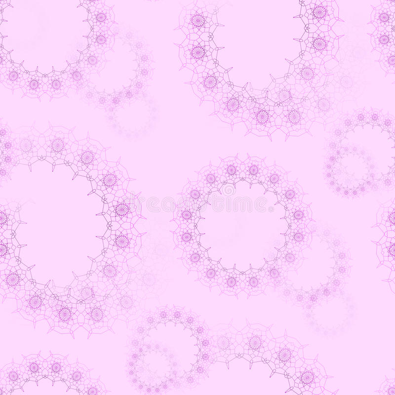 Floral round laces pattern pink violet royalty free illustration