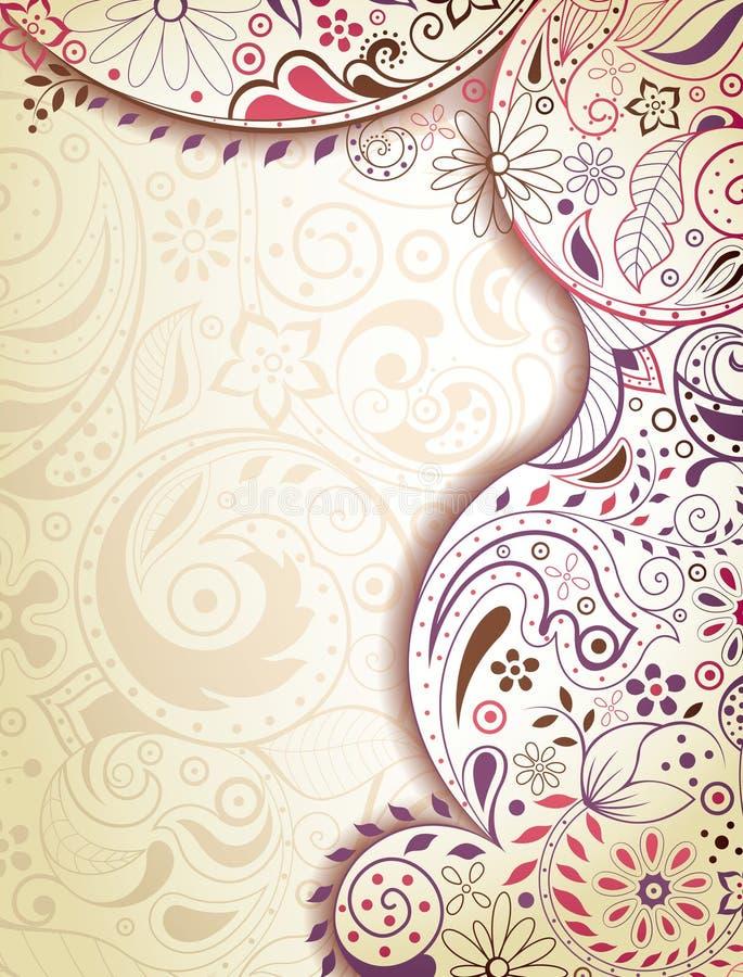Floral roxo abstrato ilustração do vetor