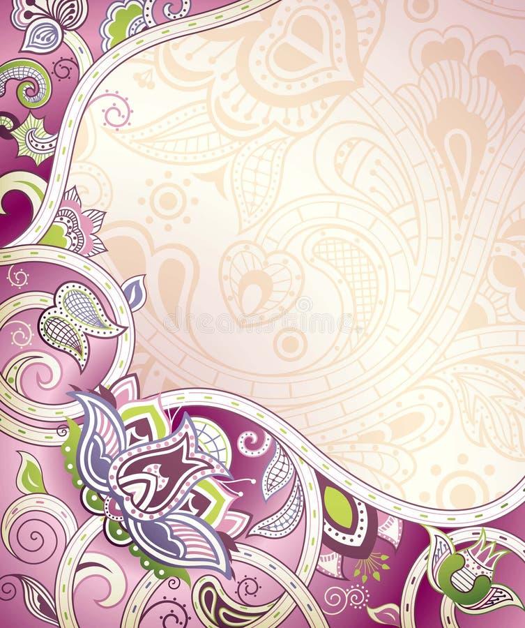Floral roxo abstrato ilustração royalty free