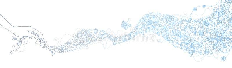 Floral scarf. stock illustration