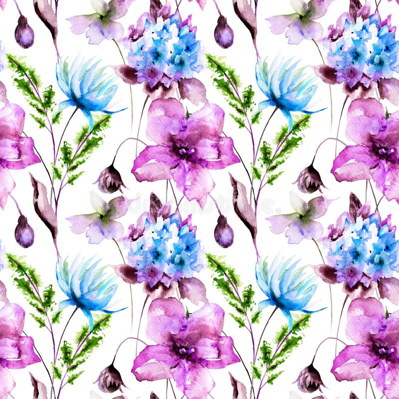 Floral seamles pattern royalty free illustration