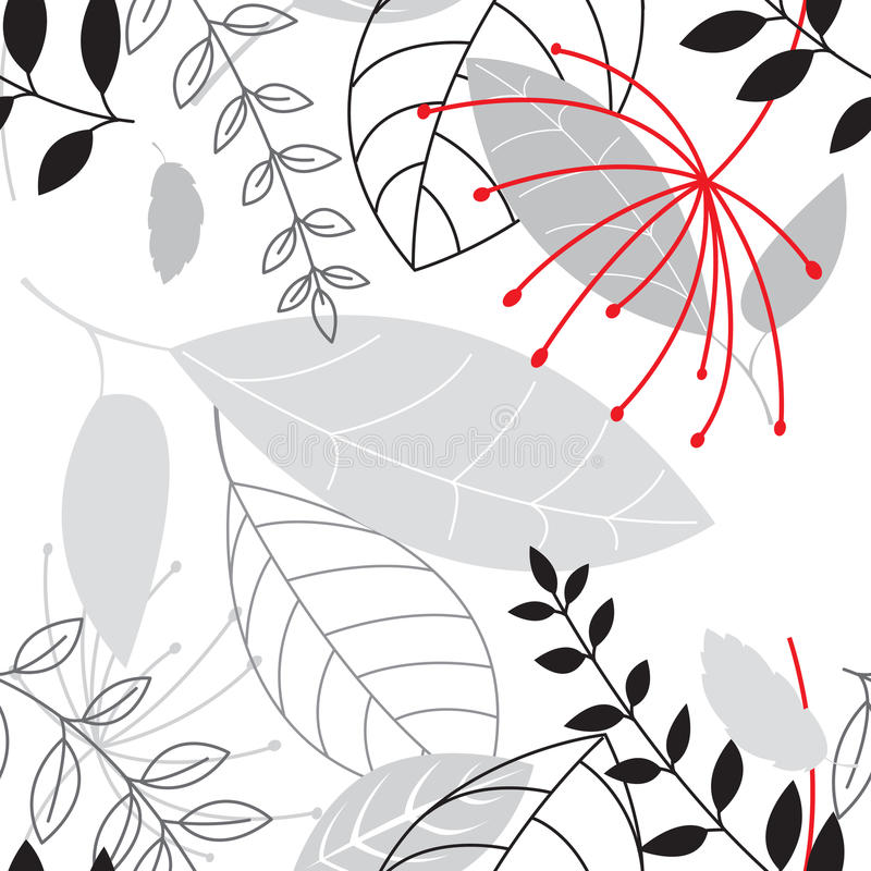Floral seamless. Background with leaves