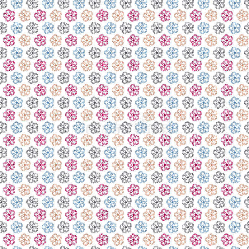 Floral seamless abstract background vector illustration