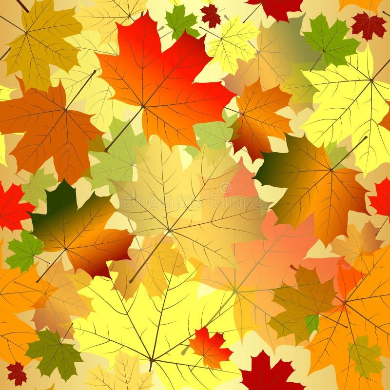Floral seamless autumn pattern royalty free illustration