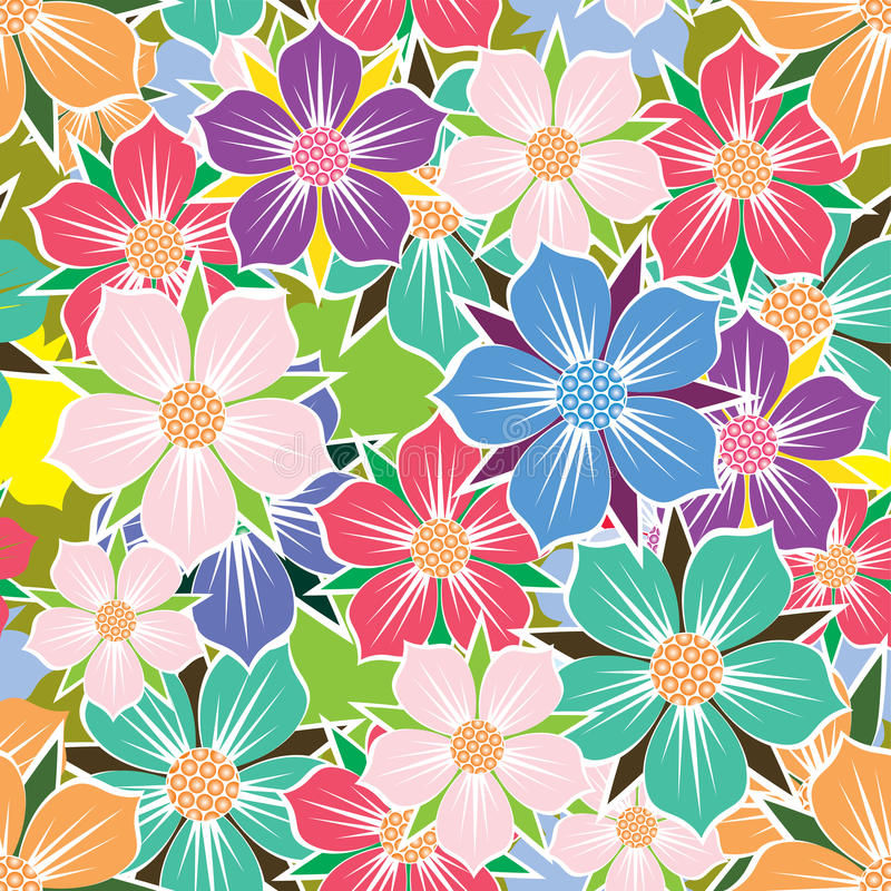 Free Floral Seamless Background. Royalty Free Stock Image - 30258676