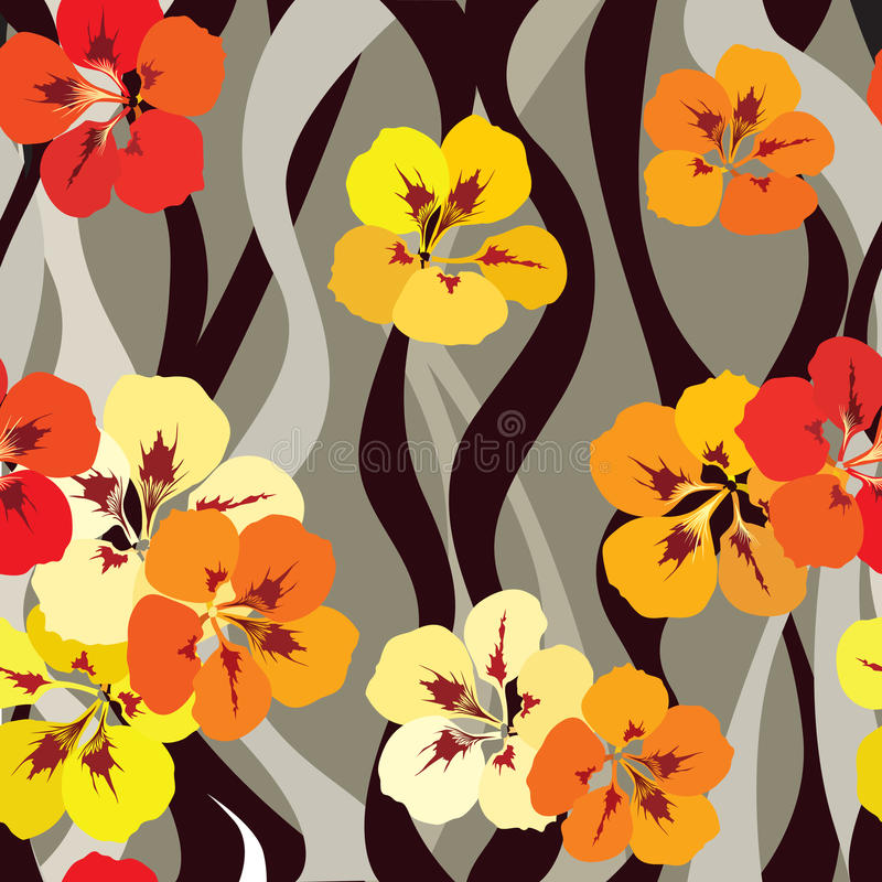 Floral seamless background. Abstract ornament geometric texture. vector illustration
