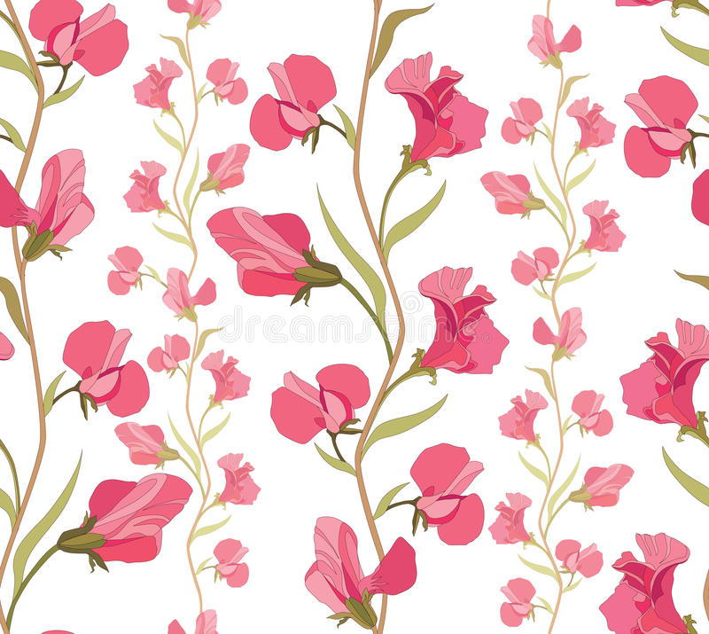 Floral seamless background. Abstract ornament geometric texture. royalty free illustration
