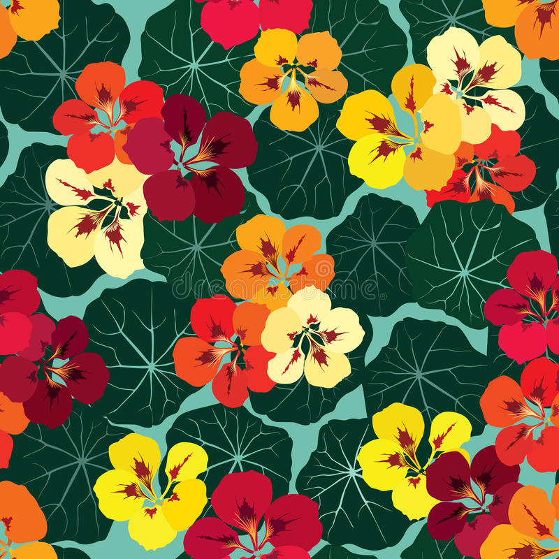 Free Floral Seamless Background. Bright Flower Pattern. Royalty Free Stock Photography - 34956217
