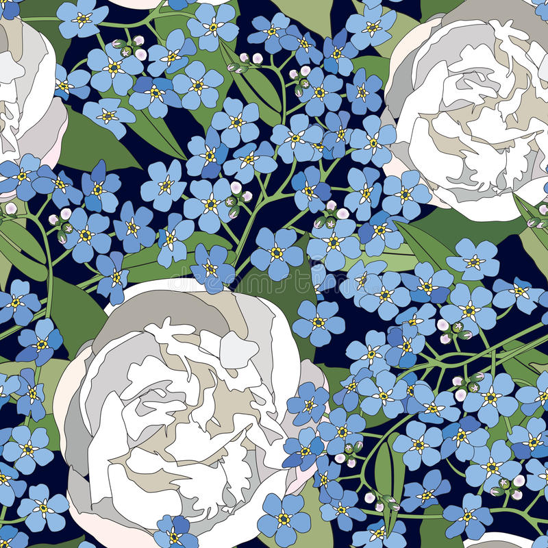 Download Floral Seamless Background. Gentle Flower Pattern. Stock Image - Image: 30750571