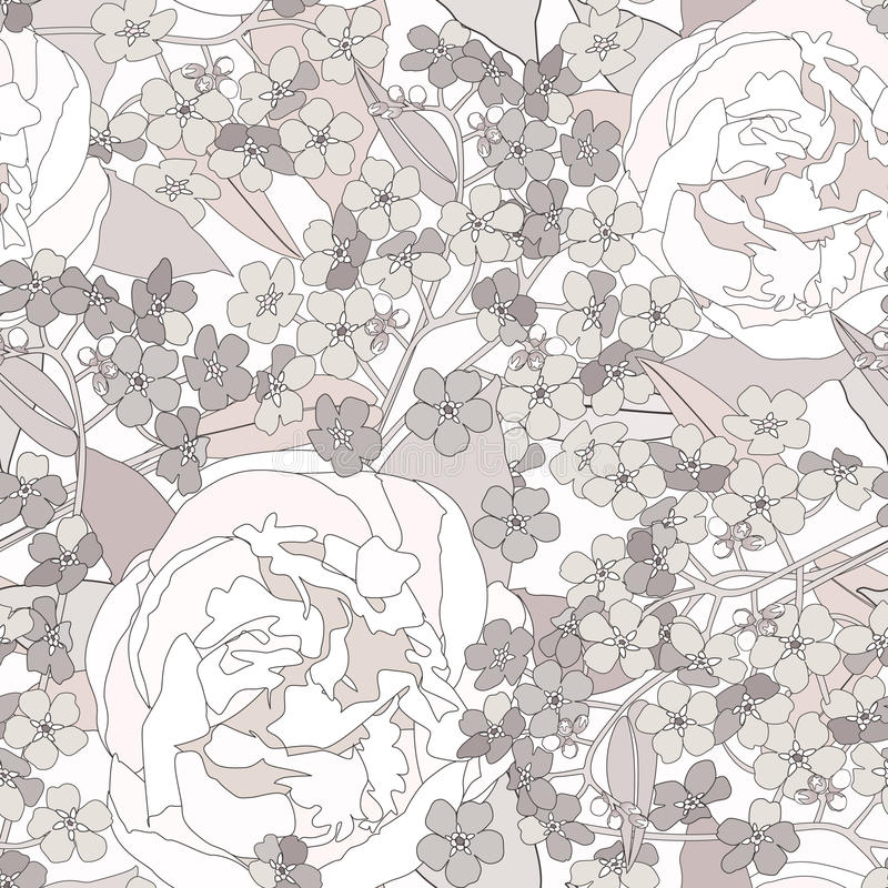 Download Floral Seamless Background. Gentle Flower Pattern. Stock Vector - Image: 30750606