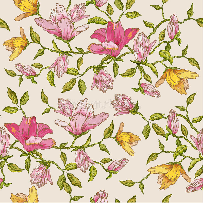 Floral Seamless Background royalty free illustration