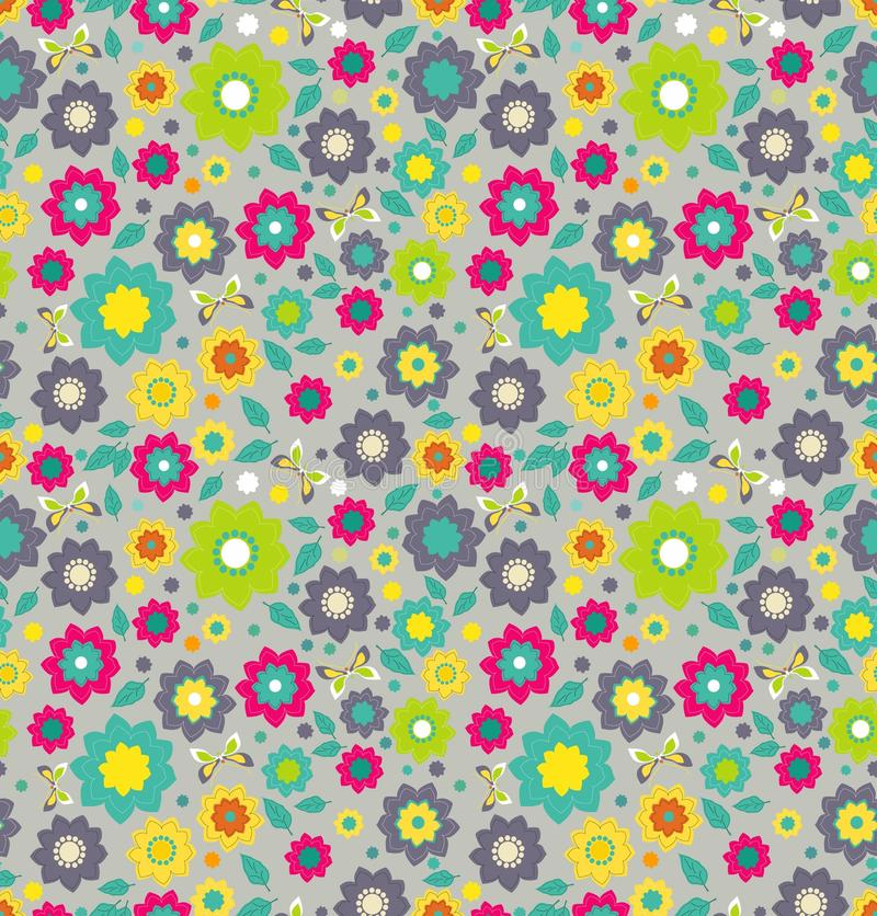 Download Floral Seamless Color Pattern With Flowers Stock Vector - Illustration: 27012685