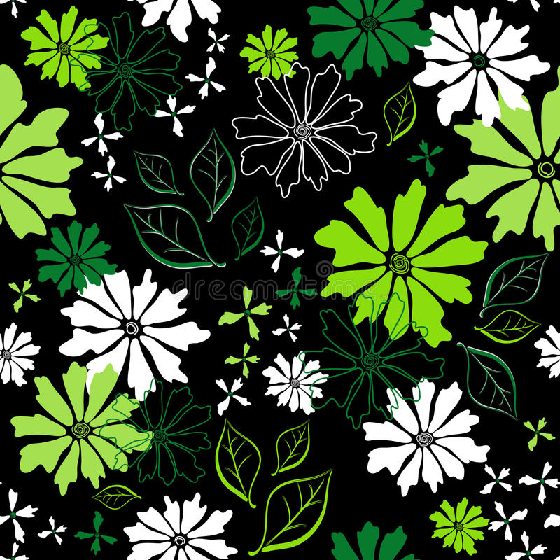 Download Floral Seamless Dark Pattern Stock Vector - Image: 19217687