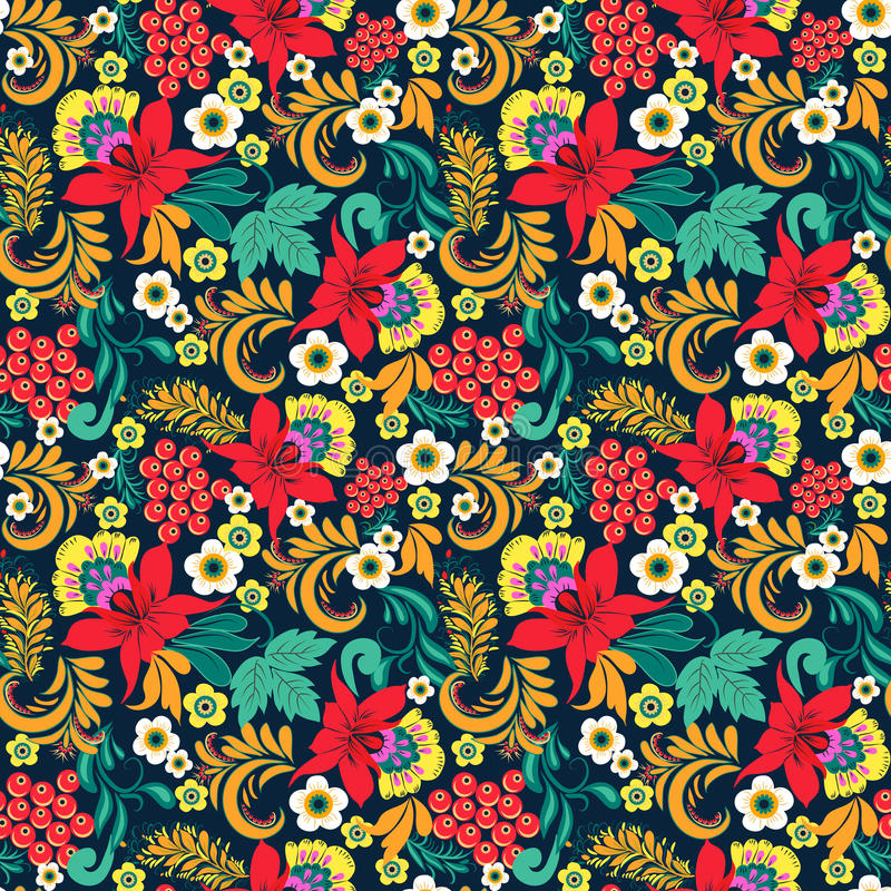 Download Floral Seamless Ethnical Pattern Stock Vector - Image: 83702021