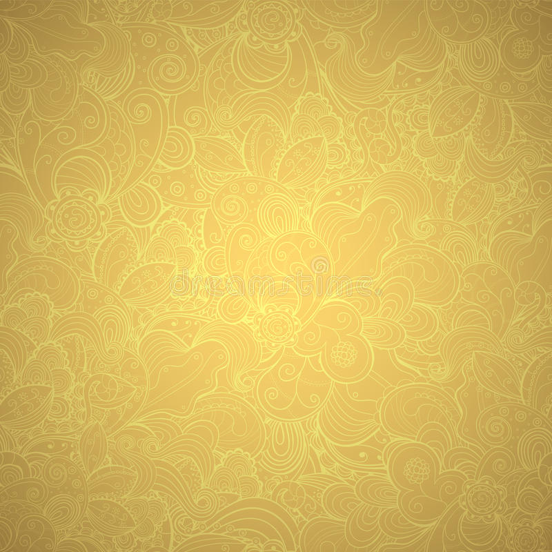 Floral seamless gold pattern. royalty free illustration