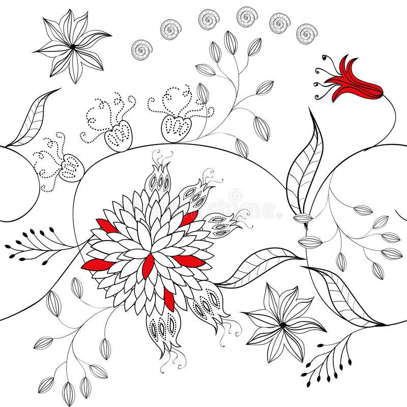 Download Floral seamless pattern stock vector. Image of ornamental - 13292692
