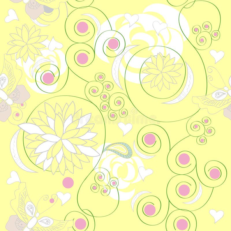 Download Floral seamless pattern stock vector. Illustration of abstract - 13411395