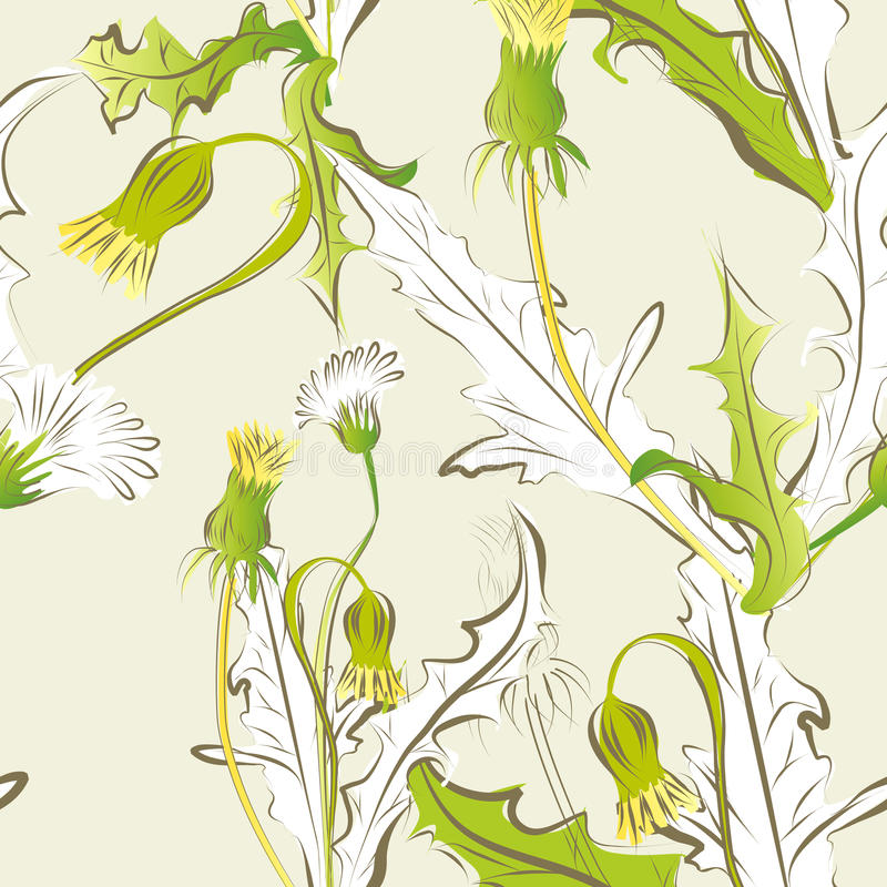 Download Floral seamless pattern stock vector. Image of dandelion - 13491976