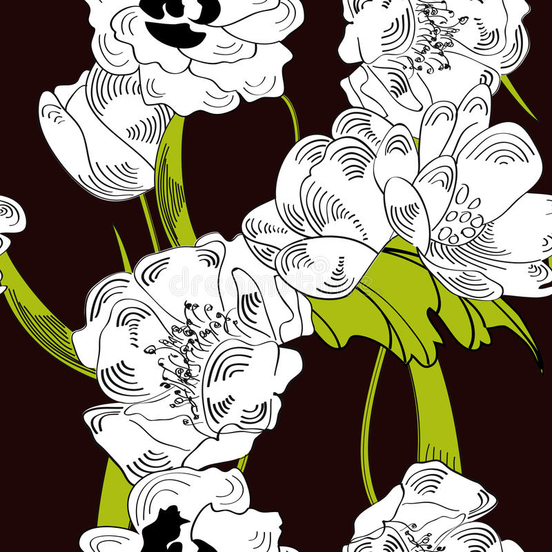 Download Floral seamless pattern stock vector. Illustration of decorative - 13514477