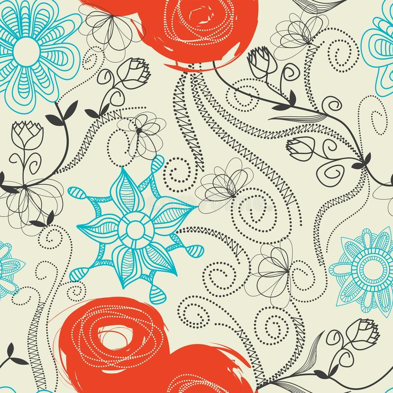 Download Floral seamless pattern stock vector. Image of fabric - 14854928