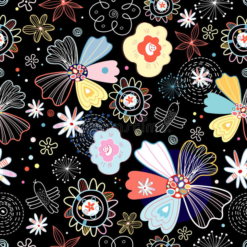 Download Floral Seamless Pattern Royalty Free Stock Photography - Image: 19527797