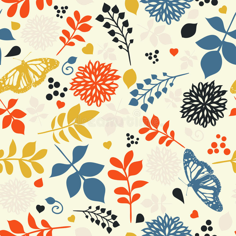 Download Floral seamless pattern stock vector. Illustration of blossom - 25601057