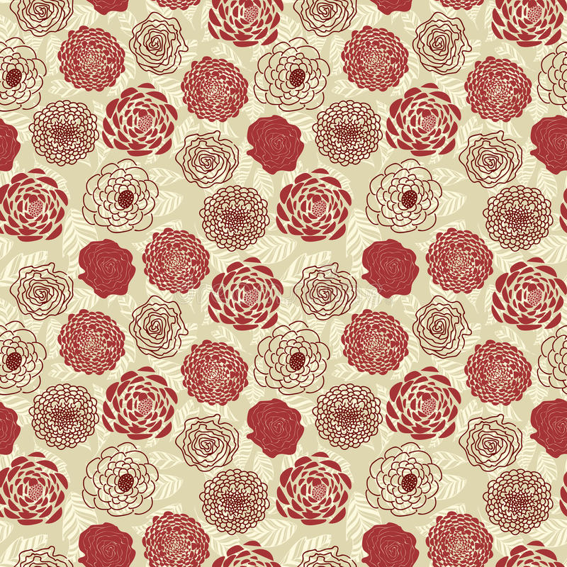 Download Floral seamless pattern stock vector. Image of ornamental - 25968153