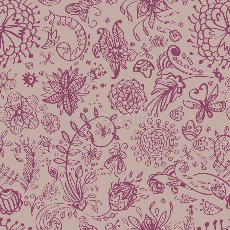 Download Floral seamless pattern stock illustration. Image of flower - 26828103