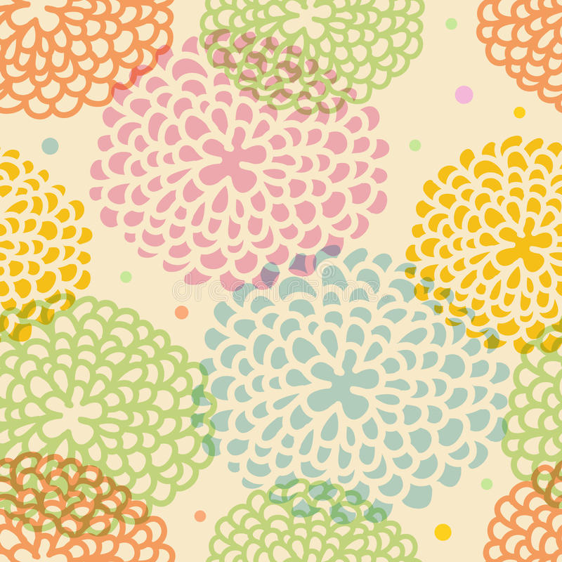 Floral seamless pattern royalty free illustration