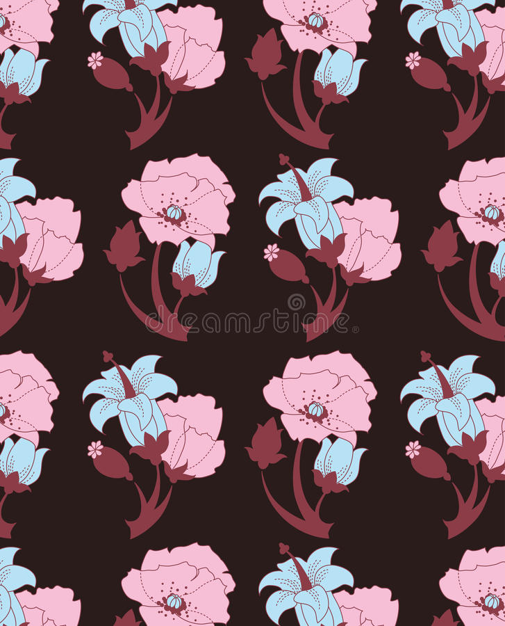 Download Floral seamless pattern stock vector. Image of beautiful - 28782630