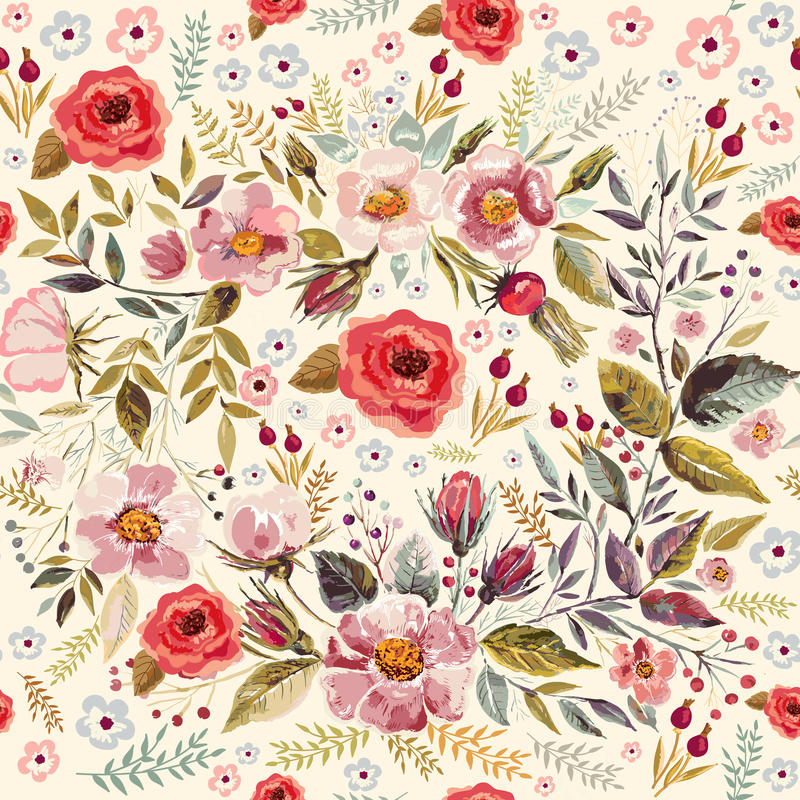 Free Floral Seamless Pattern Royalty Free Stock Photography - 50328237