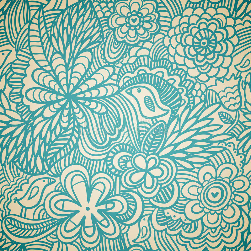 Free Floral Seamless Pattern Stock Image - 9237161